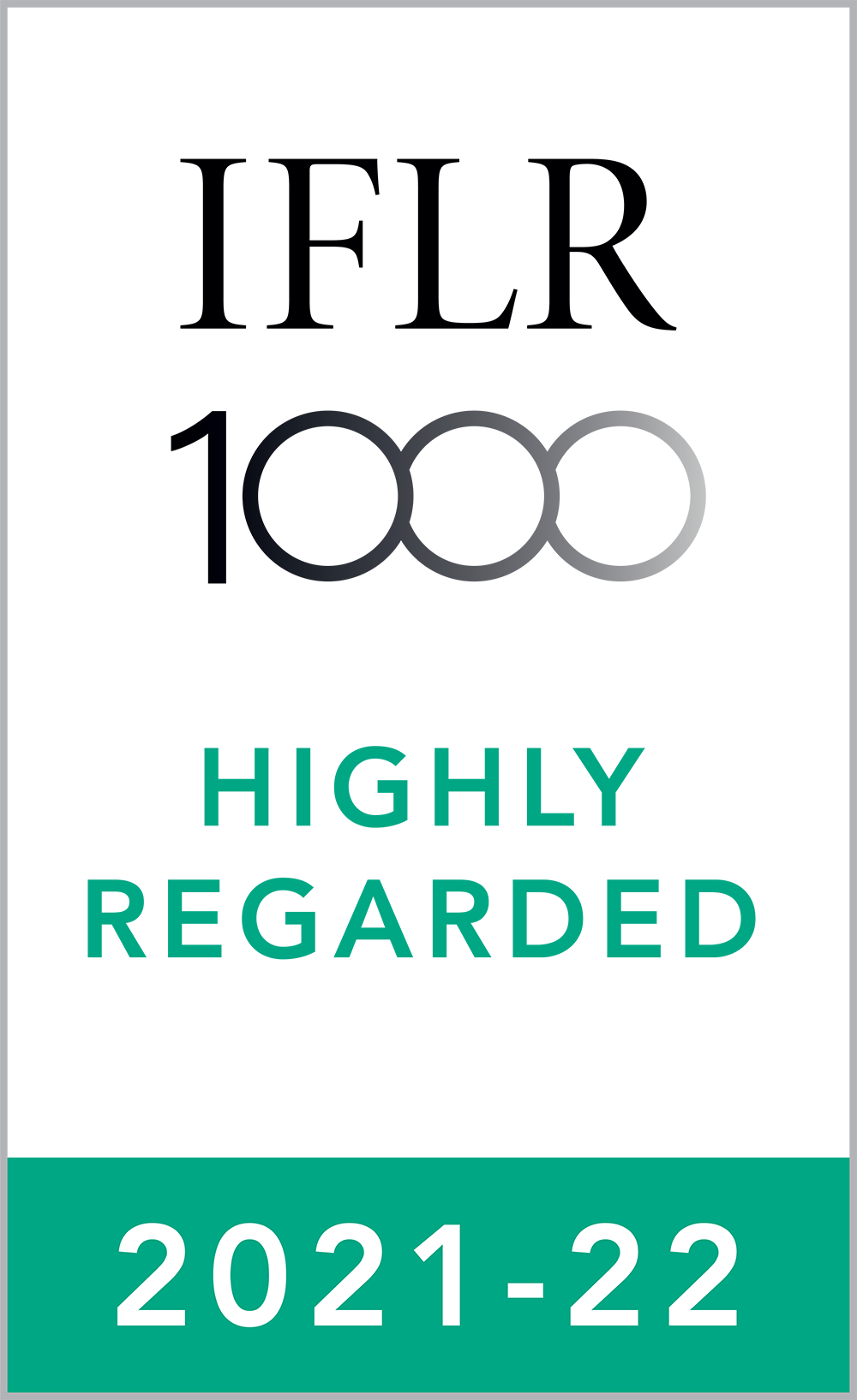 IFLR Highly Regarded 2021-22