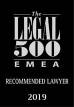Legal 500 - Recommended lawyer